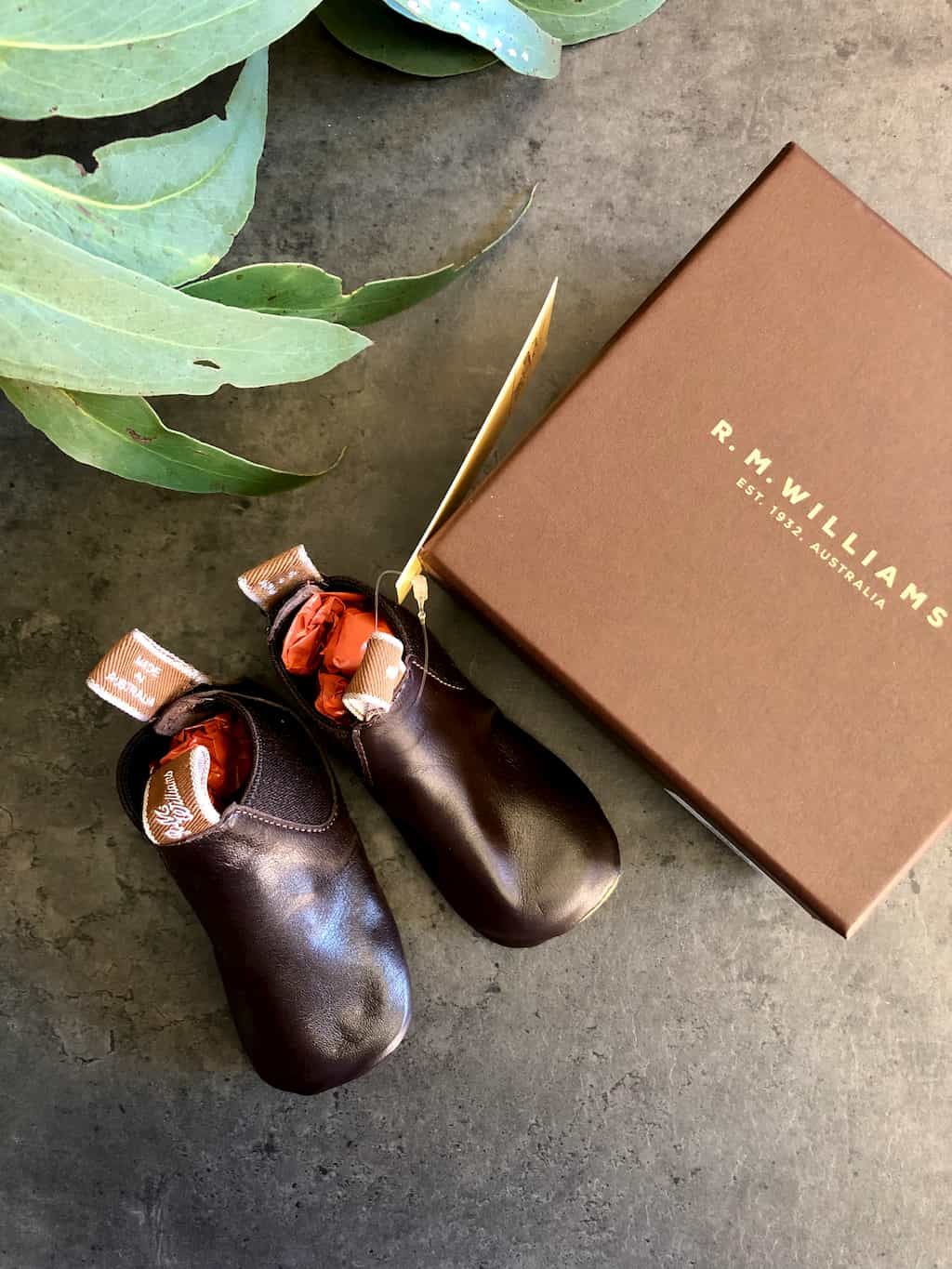 RM Williams Baby Booties – Chestnut